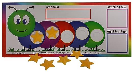 Amazon.com: Kenson Kids I Can Do It! Caterpillar Token Board (10 ...