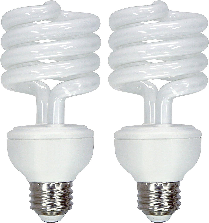 GE Lighting Energy Smart CFL 3-Way Soft White 16/25/32-Watt (40/75/125-watt Replacement) T3 Spiral Light Bulb with Medium Base (2 Bulbs)