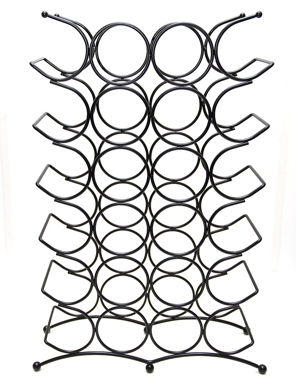 Sloane Ebury & Ebury Sloane Weinregal aus Eisen, groß, für 24 Flaschen, silberfarben c23ff9