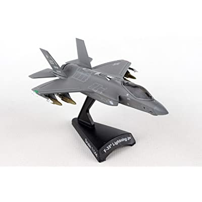 Daron Postage Stamp PS5602 USAF F-35 Version A F-35 Lightning II USAF 1/144 Scale Diecast Model with Stand: Toys & Games