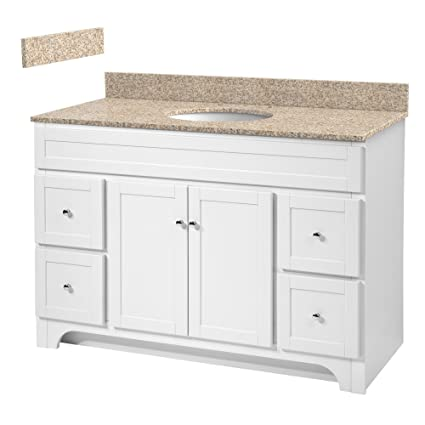 foremost wrwat4821d 8w worthington 48 inch white bathroom vanity