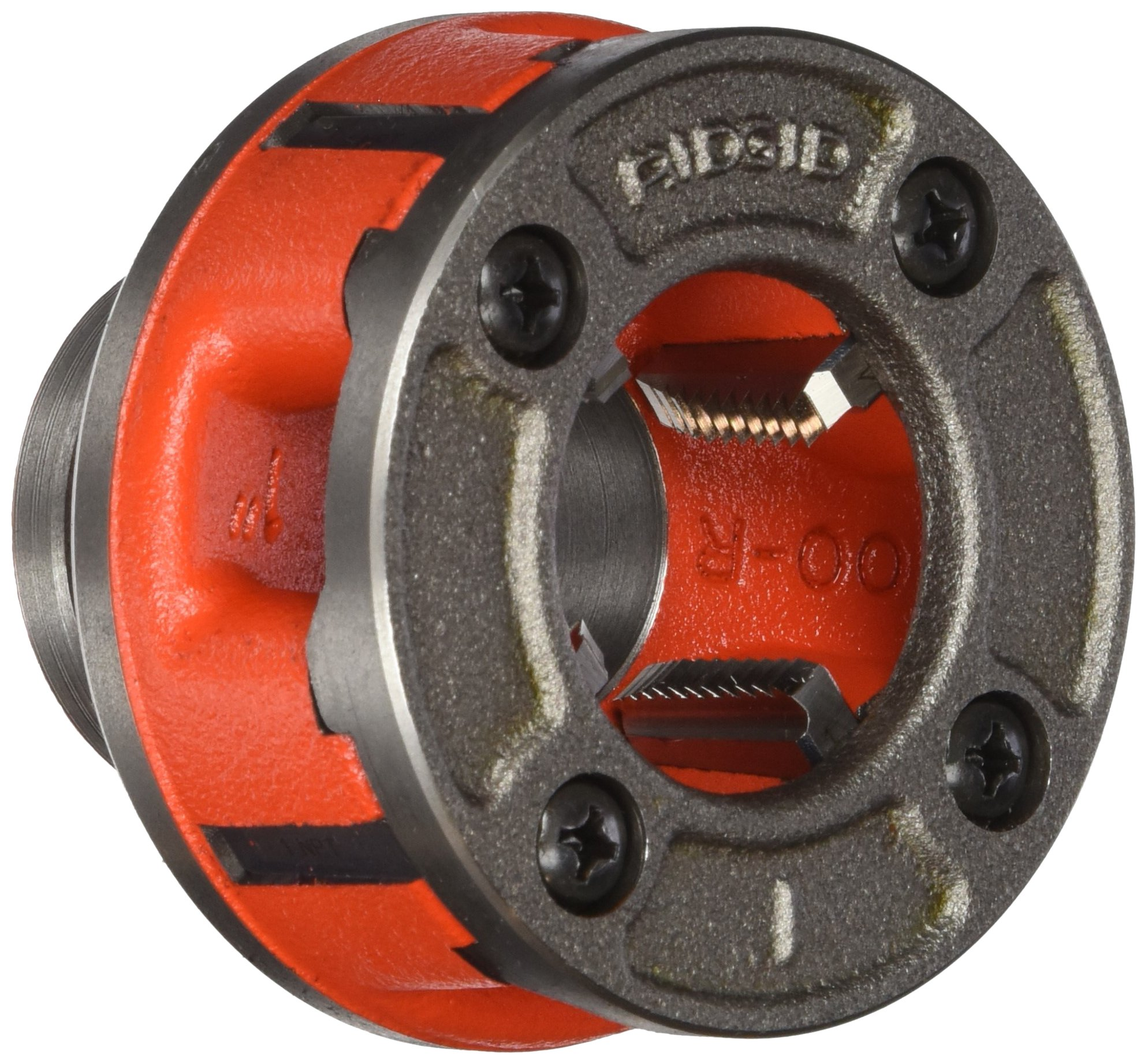 RIDGID 36895 Model OO-R Die Head, 12R Alloy Die Head comes with 3/4-inch High-Speed, Factory Set Dies that Deliver Clean, Precise 14 TPI