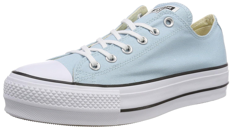 TALLA 36.5 EU. Converse CTAS Lift Ox Ocean Bliss/White/Black, Zapatillas para Mujer