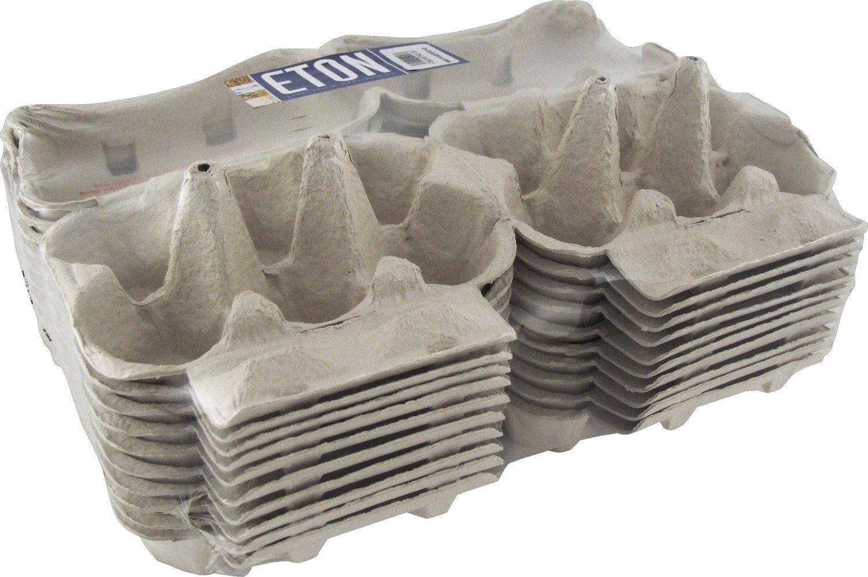 Eton, Free Range, White Flat Top , Pre Printed Egg Boxes, Pack of 20 1/2 doz