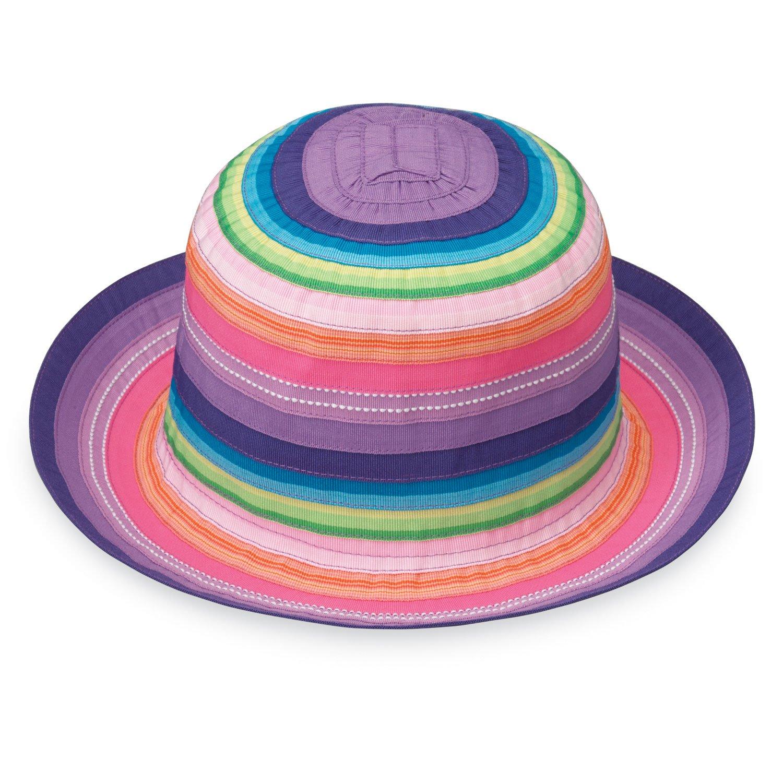 Wallaroo Hat Company Girl's Petite Nantucket Sun Hat 2-5 Years - UPF 50+ - Crushable (Rainbow Tones)