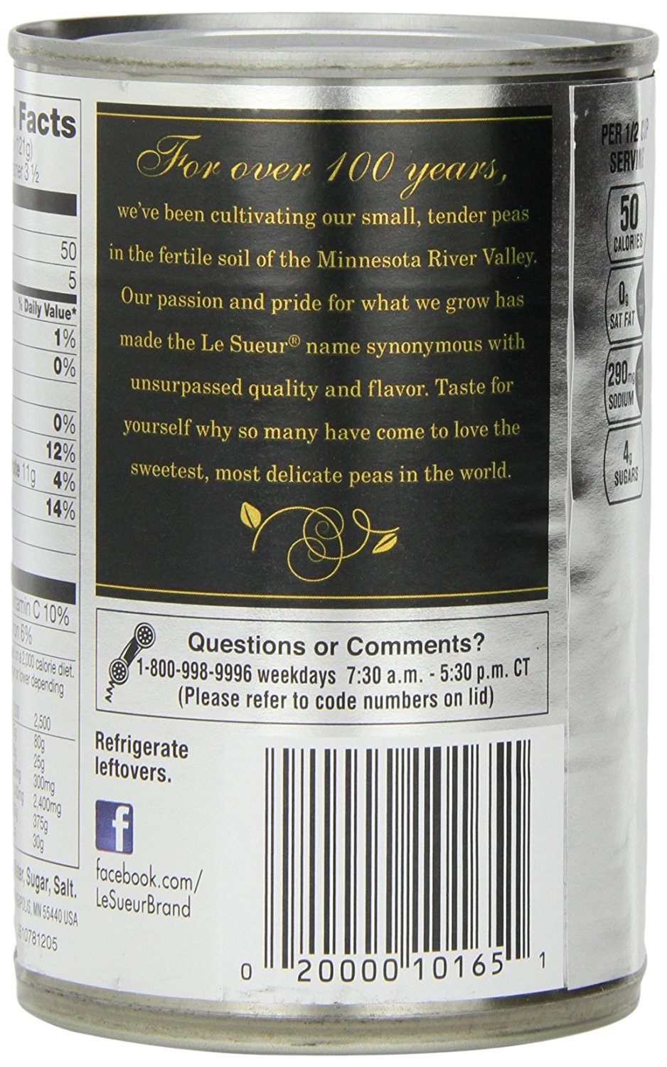 Le Sueur Very Young Small Sweet Peas, 15 Ounce (Pack of 24) by Le Sueur (Image #4)