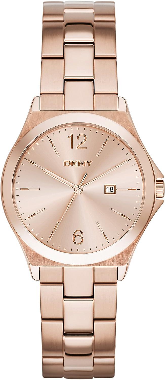 DKNY Reloj analogico para Mujer de Cuarzo con Correa en Acero Inoxidable NY2367