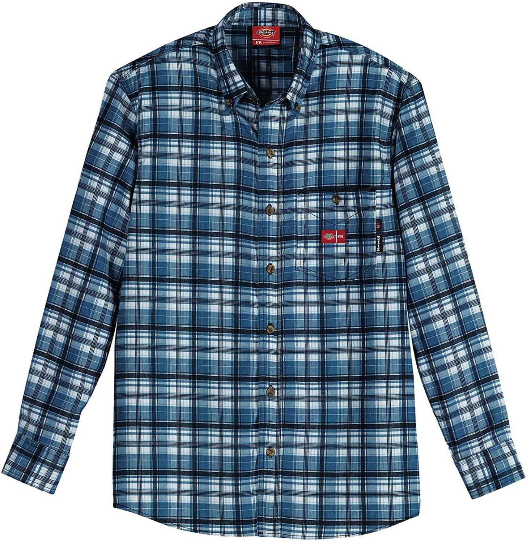 Dickies Mens Flame-Resistant Long Sleeve Plaid Shirt