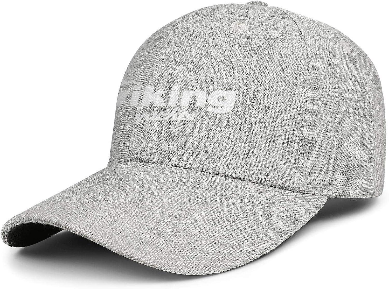 Adjustable Baseball Cap Wool Strapback Dad Hat Vintage Unstructured Trucker Hat Viking-Yachts-Logo