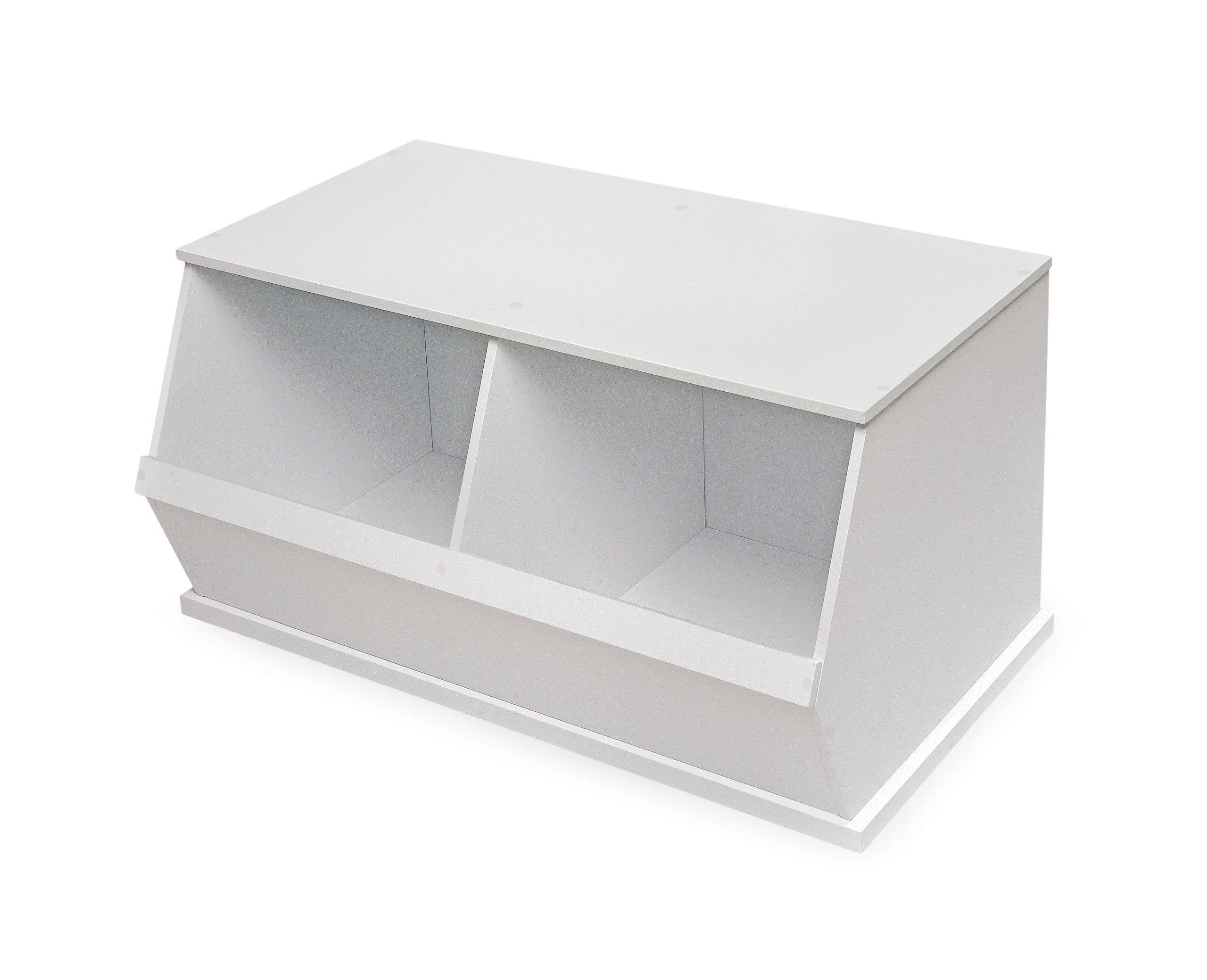 Badger Basket Company Two Bin Storage Cubby, White