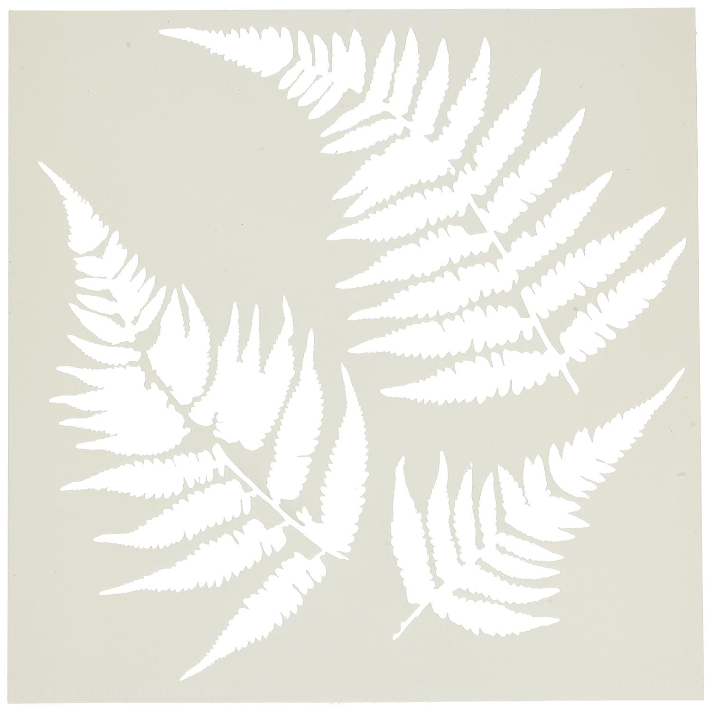 30,5 x 30,5 cm Crafters Workshop dise/ño de hojas de helecho Plantilla para manualidades