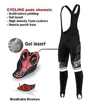 FDX New Mens Cycling Bib Tights Winter Thermal Padded Long Leggings Cycling Trouser