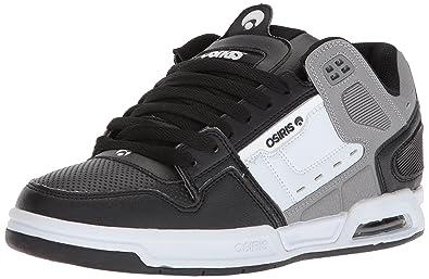 Osiris Zapatos Peril Negro-Gris-Blanco (Eu 42/Us 9, Negro)