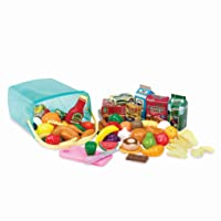 Play Circle by Battat – Pantry in a Bucket – Pretend Play Food Set and Storage Container with Lid – Realistic & Durable Toy Kitchen Accessories for Kids Ages 3 and Up (79 Pieces), Multicolor
