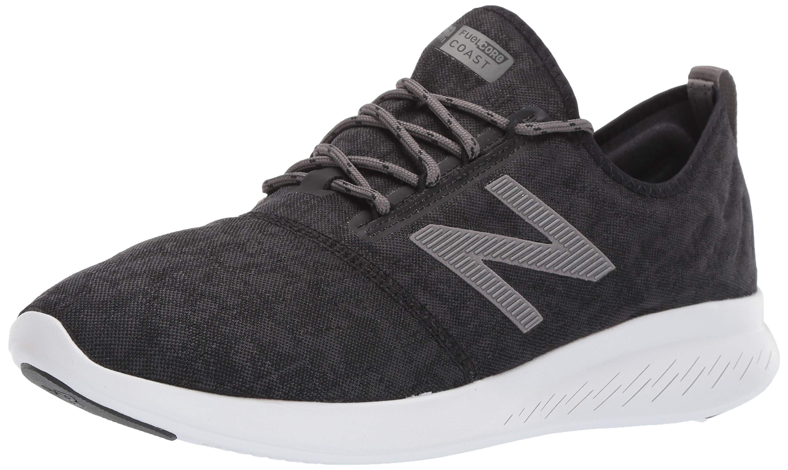 New Balance Men's Coast V4 FuelCore Running Shoe, Black/Phantom, 11 D US