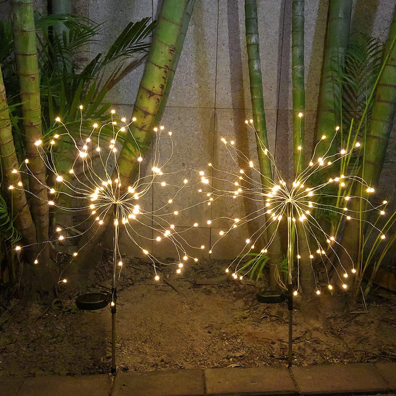 Amazon Com Heymate Solar Garden Lights Outdoor 2 Pack Warm