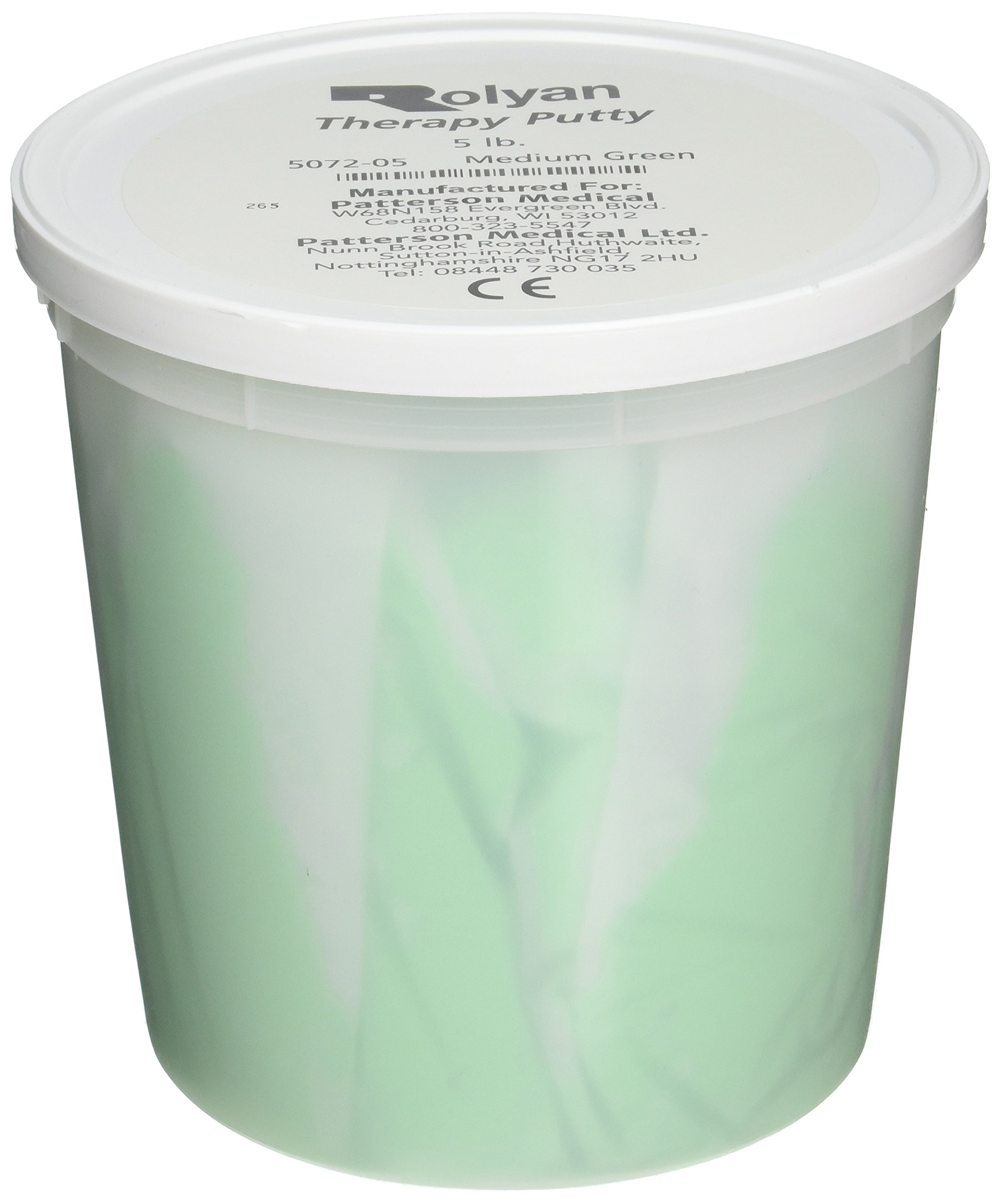 Sammons Preston Therapy Putty for Physical Therapeutic Hand Exercises, Flexible Putty for Finger and Hand Recovery and Rehabilitation, Strength Training, Occupational Therapy, 5 Pounds, Medium, Green