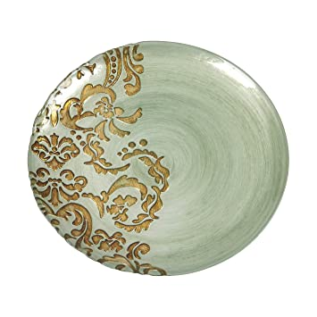 Red Pomegranate Damask Dinner Plate Turquoise Gold 11-Inch  sc 1 st  Amazon.com & Amazon.com: Red Pomegranate Damask Dinner Plate Turquoise Gold 11 ...