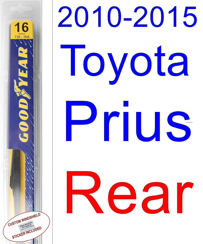 Amazon.com: 2010-2015 Toyota Prius Replacement Wiper Blade Set/Kit (Set of 3 Blades) (Goodyear Wiper Blades-Premium) (2011,2012,2013,2014): Automotive