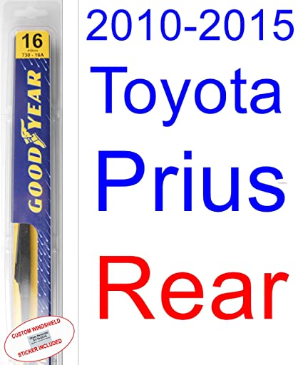 Amazon.com: 2010-2015 Toyota Prius Replacement Wiper Blade Set/Kit (Set of 3 Blades) (Goodyear Wiper Blades-Premium) (2011,2012,2013,2014): Automotive