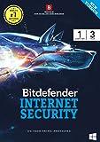 BitDefender Internet Security Latest Version (Windows) - 1 User, 3 Years (Activation Key Card)
