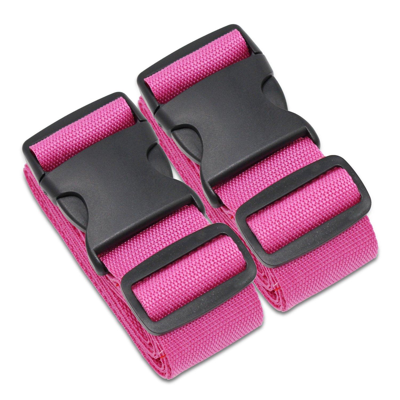 KEESIN 2 Pack bandoulière réglable sangles de bagage valise sac ceintures (Rainbow) KS104