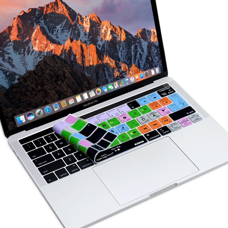 A1706/et A1707, Release octobre 2016 US EU mise en page XSKN Logic Pro X raccourcis anglais Silicone Keyboard Skin film de protection pour Multi Touch Barre MacBook Pro Retina 33/cm//38,1/cm