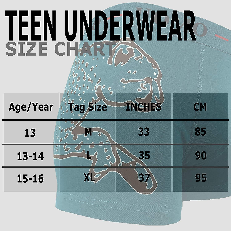 Uomo 5 /& 6 Pack Boys Boxers Teenager Jaguar Shorts Age 13-16 Briefs Teen Underwear