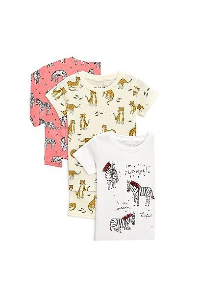 next Niñas Pack De Tres Pijamas Cortos con Animales, Brillantes Y Detalles Bordados (9