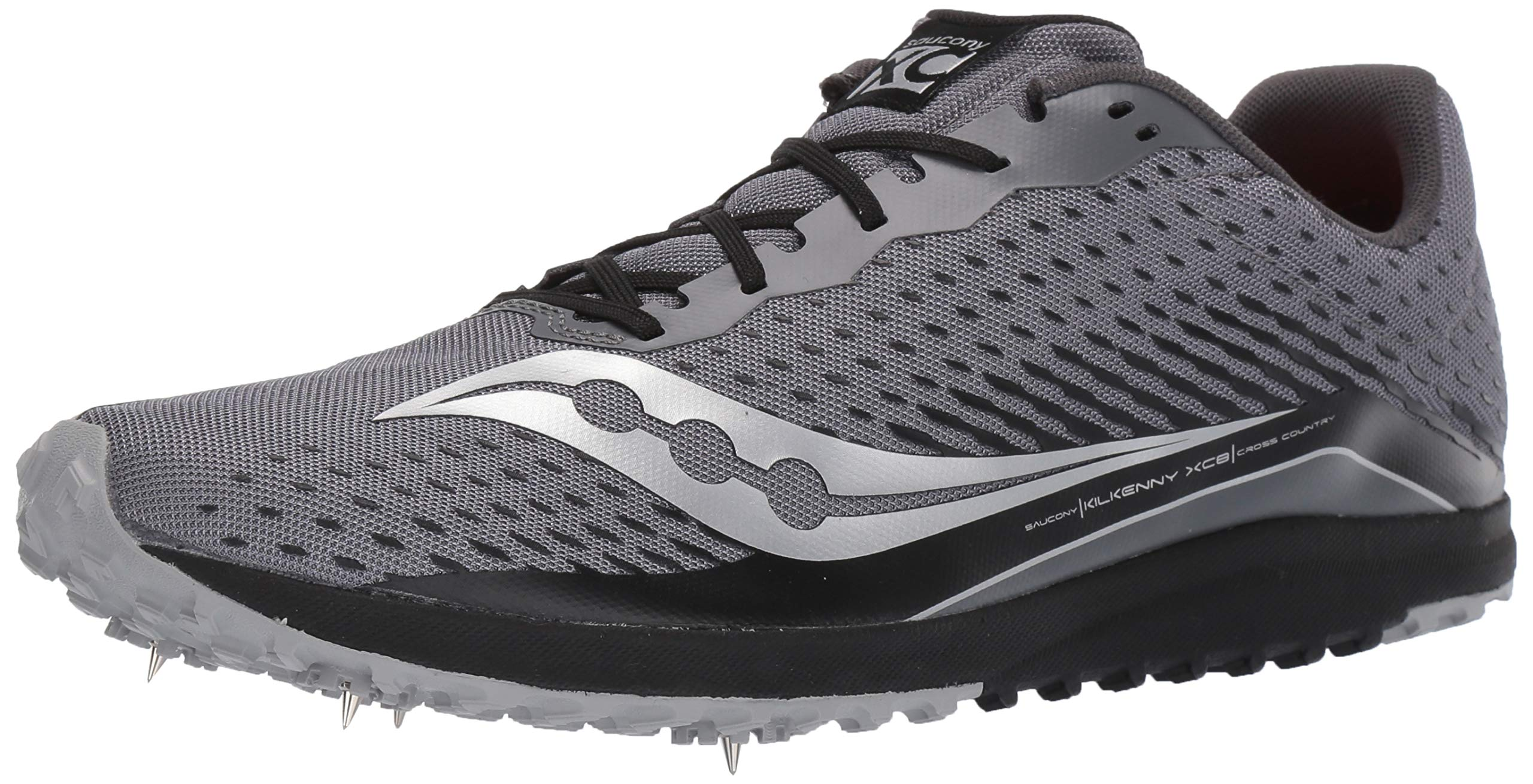 Saucony Men's Kilkenny XC 8 Track Shoe, Black/Silver, 6.5 Medium US by Saucony