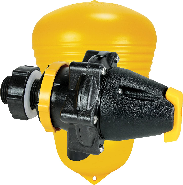 1.25 Yellow//Black Jobe Valves Megaflow Valve with Short Tail