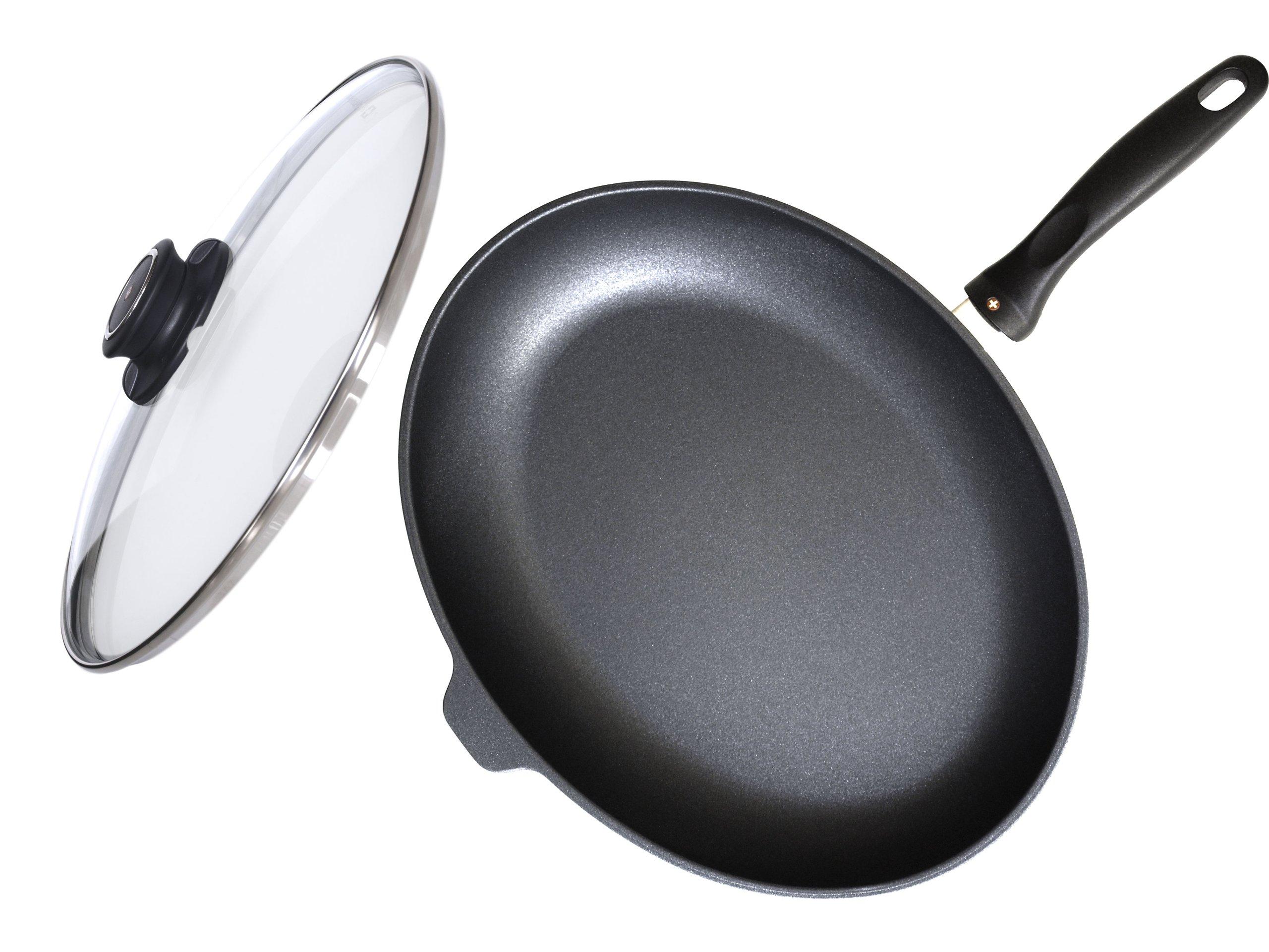 Swiss Diamond Nonstick Oval Fish Pan with Lid- 10.25'' x 15''