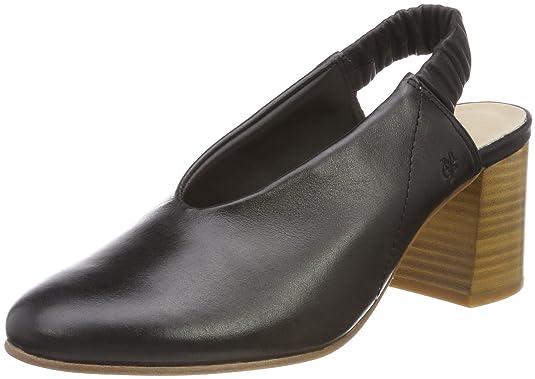 Marc O'Polo Damen Mid Heel Sling 80214392002101 Slingback Pumps, Schwarz (Black), 38 EU