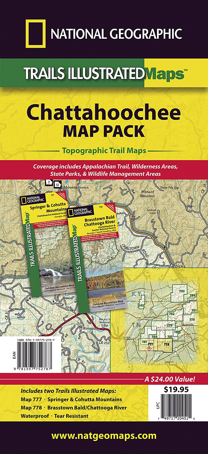 Chattahoochee National Forest [Map Pack Bundle] (National Geographic on