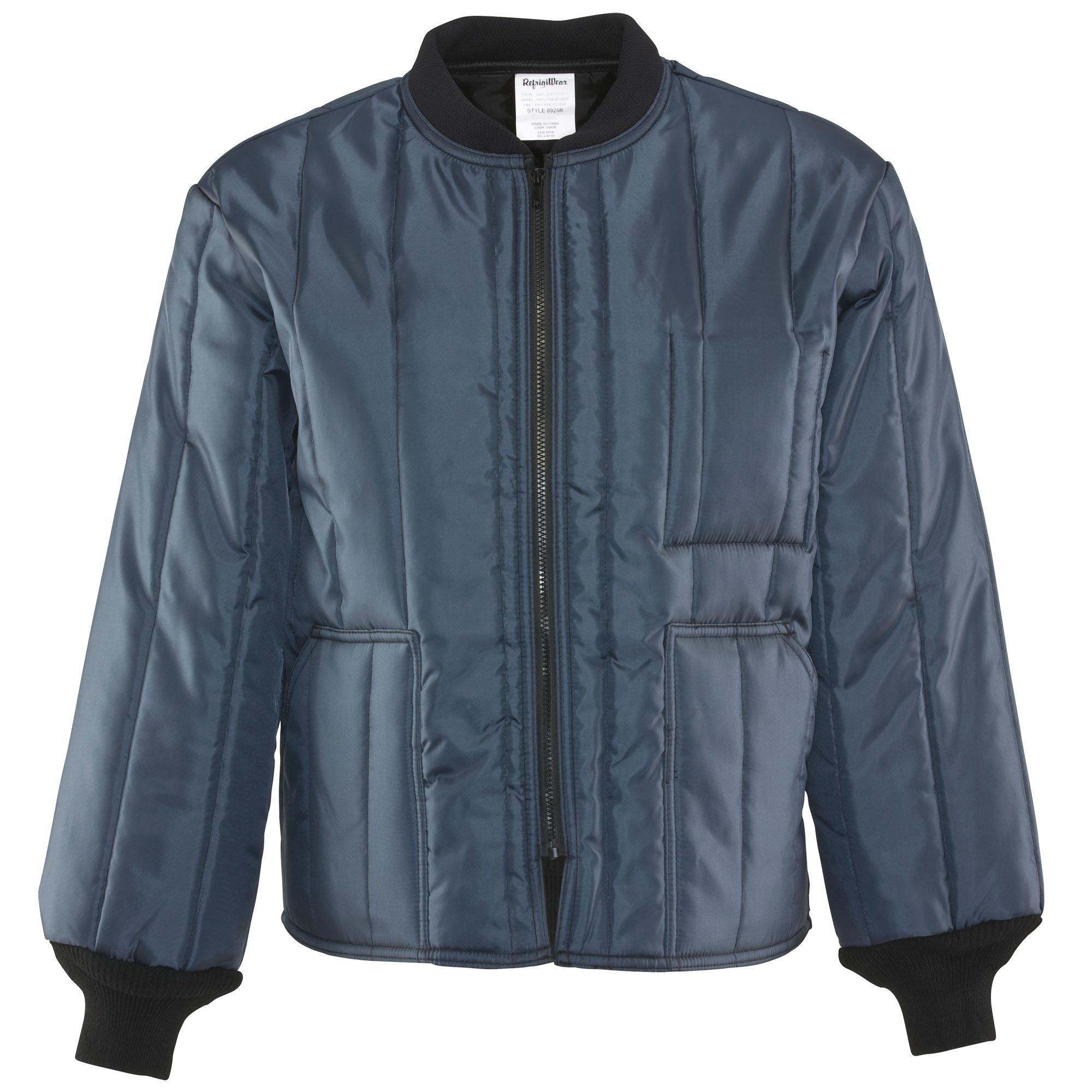 Refrigiwear Men's Lightweight Insulated Econo-Tuff Workwear Jacket (Navy Blue, XL)