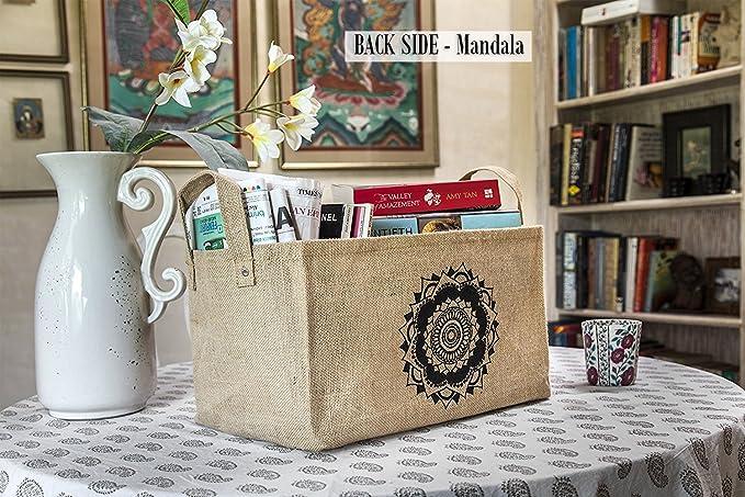 Cestas de almacenamiento hechas de yute para guardar juguetes y organizar el ropero del bebé: Amazon.es: Hogar