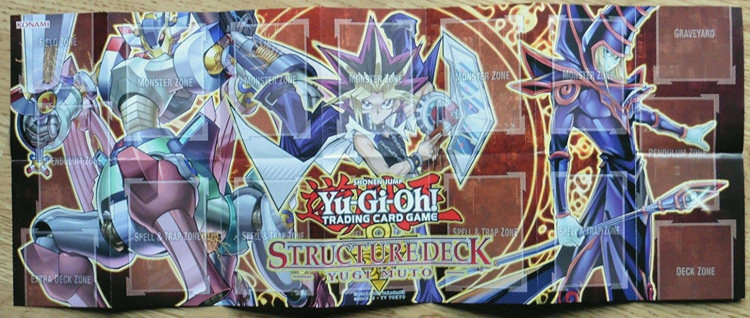 YU-GI-OH TRADING CARD GAME PAPER PLAYMAT FROM THE HERO STRIKE STRUCTURE DECK