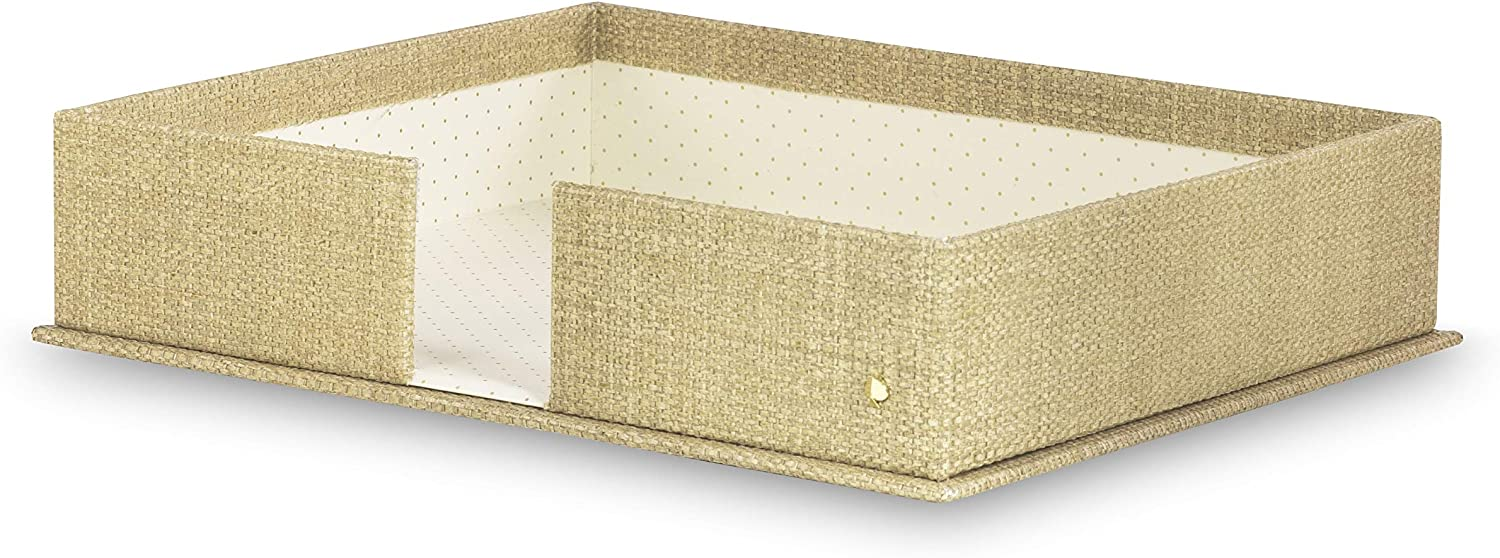 Kate Spade New York Office Supplies Desk Organizers, Grasscloth (Letter Tray)