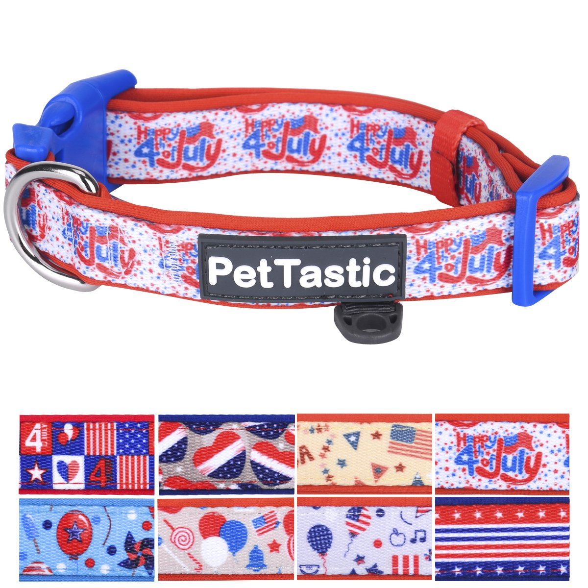 Medium Best Adjustable Medium Dog Collar PetTastic Durable Soft & Heavy Duty with Cute Independent Day Design, Outdoor & Indoor use Comfort Dog Collar for Girls, Boys, Puppy, Adults, Including ID Tag Ring