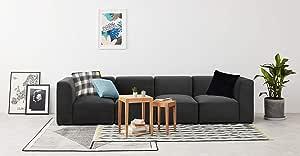 Galaxy Design Velvet Series Juno 4 Seat Living Room Sofa, Grey, GDFJNS-602-34