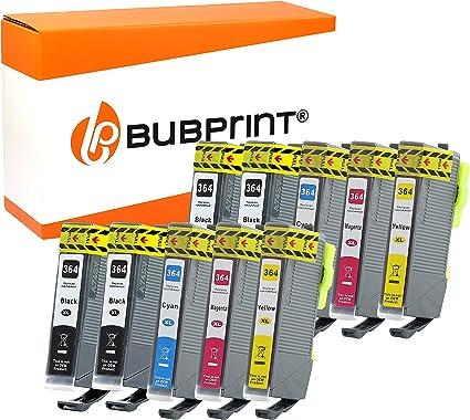 Bubprint - 10 cartuchos de tinta compatibles con HP 364XL 364 XL ...