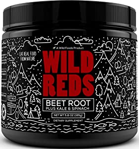 Wild Organic Beet Root Powder - Super Beets Powder with Antioxidant Blend, Beet Juice Powder, Cranberry, & Acai - Mix into Drinks for Natural Energy Support & Nitric Oxide Boost- 30 Servings