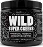 Wild Green Superfood Powder - Organic Super Greens Powder with Digestive Enzymes - 3 Servings of Veggies per Scoop…