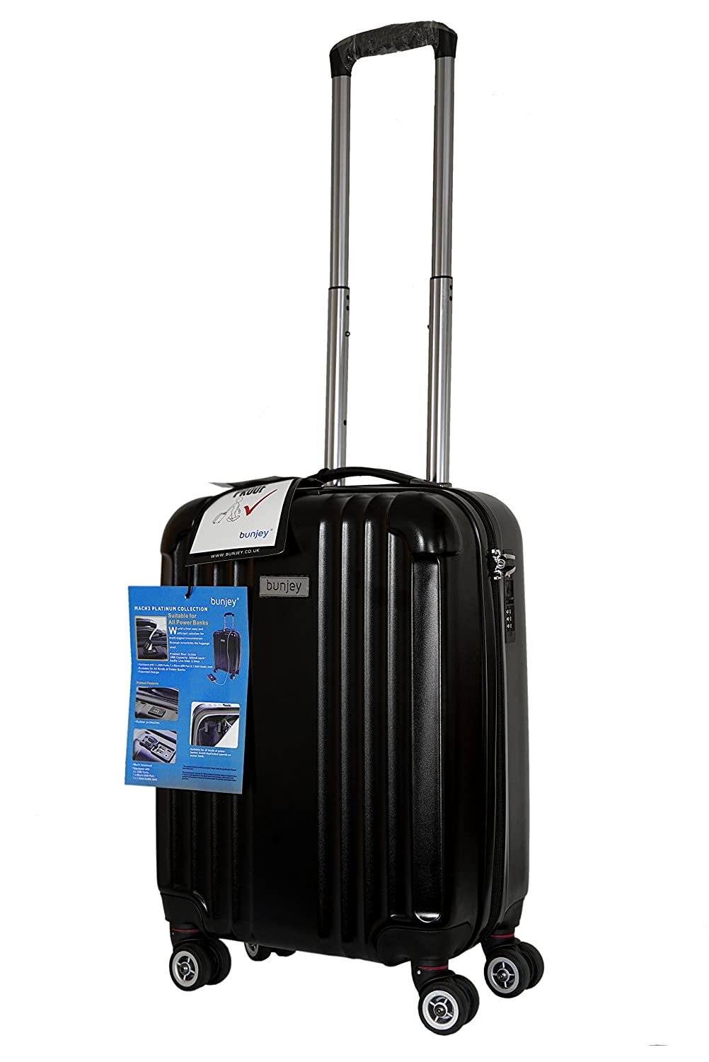 Bunjey Mach2 Platinum Collection Cabin Size - Maleta negro negro Cabin / Small: Amazon.es: Equipaje