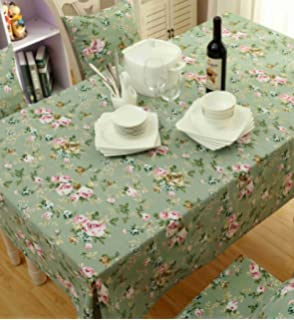 Hilltop To Cloud Square/Rectangular Vintage Floral Fresh Polyester  Tablecloth Home Decoration Table Covers Party