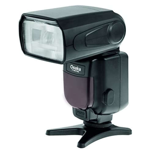 Osaka Camera Flash Speedlite Speedlight TT990 with 18-180 Manual Zooom for Canon, Nikon, Sony, Olympus, Pentax & All Other DSLR Cameras GN72