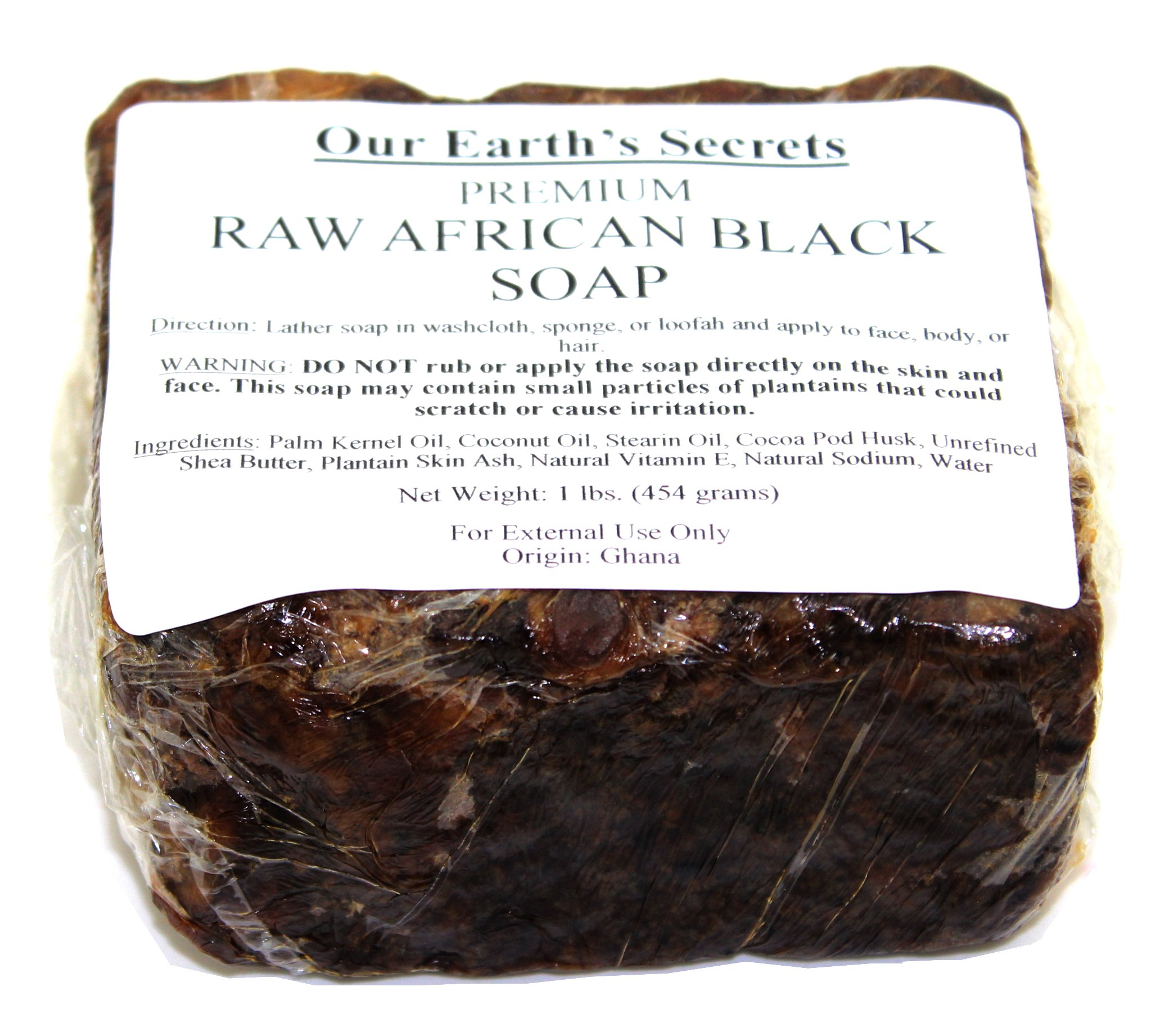 Our Earth's Secrets Raw African Black Soap, 1 lb. by Our Earth's Secrets (Image #4)