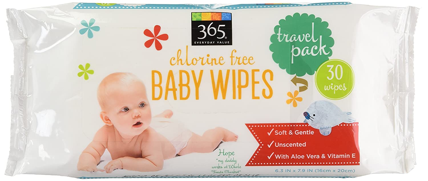365 Everyday Value Baby Wipes Travel Size, 30 Count Whole Foods Market