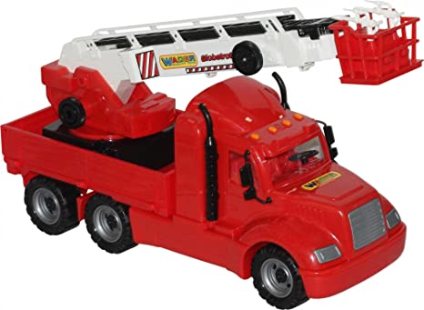 7edefcd7d13 Amazon.com: Wader American Fire Truck Toy, Realistic Extendable ...