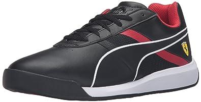 PUMA Men s Podio Tech SF Fashion Sneaker Puma Black/Puma Black/Rosso Corsa